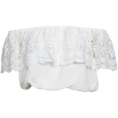 Glamorous Off Shoulder Crop Top ($43) ❤ liked on Polyvore featuring tops, crop tops, shirts, t-shirts, white, womens-fashion, white lace shirt, white top, off the shoulder shirts and lace crop top