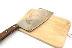 chopping knife and cutting board