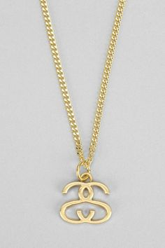PERF since I'm Shannon Stone lol Stussy Double S Necklace #urbanoutfitters