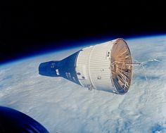 Gemini 7 as seen by Gemini 6 during the first space rendezvous - December 15, 1965