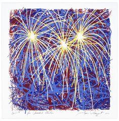 James Rosenquist: Fireworks for President Clinton