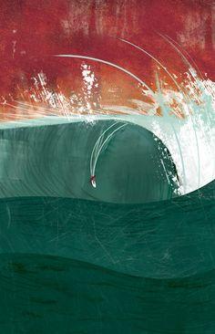 Pico Alto Big Wave Invitational Poster, 2010 / Daniela Manini