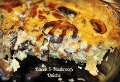 Bacon and Mushroom Quiche