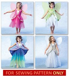 FAIRY COSTUME PATTERN / Flower Fairies / Size Child 2 to Girl 8. $6.99, via Etsy.