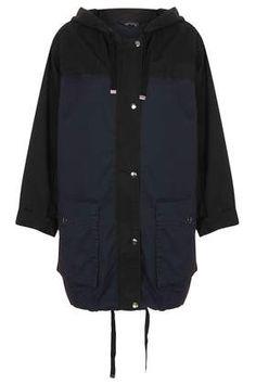 Colour Block Parka Jacket