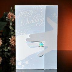 """""""Casamento feliz"""" Convite do casamento Blue Gate-Fold - conjunto de 50 – EUR € 45.37"""