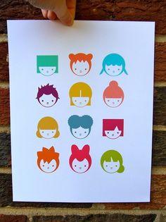 Mint Parcel Print: cuttie pie design
