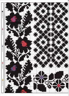 Gallery.ru / Фото #39 - схемы для вышиванок - zhivushaya Cross Stitch Rose, Cross Stitch Borders, Cross Stitch Alphabet, Cross Stitch Flowers, Cross Stitching, Cross Stitch Patterns, Bead Embroidery Patterns, Folk Embroidery, Loom Patterns