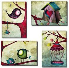 Deux oiseaux, deux cages,