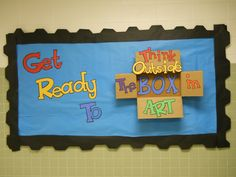 think outside the box in art!  maybe make this into a door design