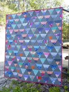 Triangle Quilt by Jessica Scappy n Happy
