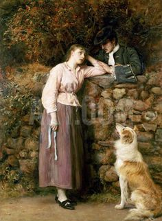 size: Giclee Print: Effie Deans, from 'The Heart of Midlothian' by Sir Walter Scott, 1877 by John Everett Millais : Fine Art John Everett Millais, Painting Frames, Painting Prints, Fine Art Prints, Pre Raphaelite Brotherhood, Cottage Art, Dog Art, Collie, Find Art