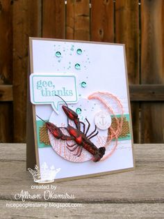 Tuesday, June 17, 2014 nice people STAMP!: By the Tide Lobster Card