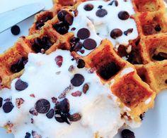 Light and doughy egg free paleo waffles