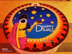 Simple Home Decor Rangoli Designs Simple Diwali, Happy Diwali Rangoli, Rangoli Simple, Indian Rangoli Designs, Rangoli Designs Latest, Rangoli Designs Flower, Free Hand Rangoli Design, Rangoli Border Designs, Colorful Rangoli Designs