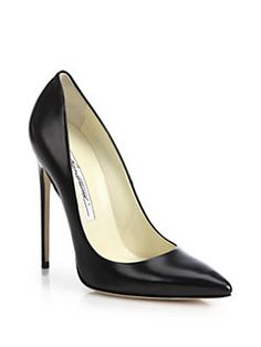 Brian Atwood - Leather Point-Toe Pumps