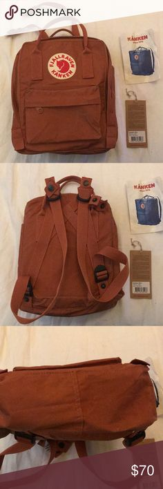 Fjallraven Kanken Mini Backpack Fjallraven Kanken Mini Backpack I'm burnt orange color. Lightly used! Fjallraven Bags Backpacks