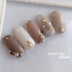 Ideas Fashion Hijab Rok Span For 2019 Bling Nail Art, Bling Acrylic Nails, Nail Art Rhinestones, Rhinestone Nails, Bling Nails, Fabulous Nails, Gorgeous Nails, Pretty Nails, Nail Art Designs Videos
