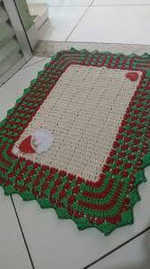 Resultado de imagem para tapete natalino de croche