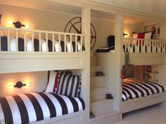 65 Nice Bunk Beds Design Ideas The Best Way To Maximize Your Living Space 50 Bunk Beds Built In, Kids Bunk Beds, Loft Spaces, Living Spaces, Futon Bunk Bed, Bunk Rooms, Bunk Bed Designs, Kids Bedroom, Decoration