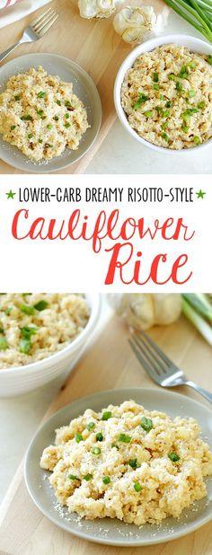 Healthy Risotto-Style Cauliflower Rice Recipe