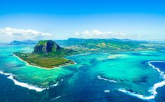 Working from Mauritius - aerial shot le Morne