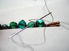 Tutorial for beaded bobby pins