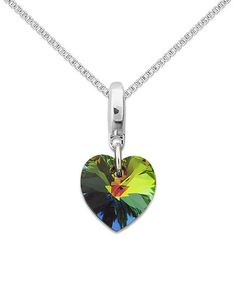 This Mystic Topaz Swarovski® & Sterling Silver Heart Pendant Necklace is perfect! #zulilyfinds