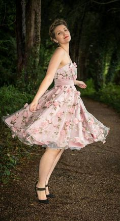 1950s inspired prom bridesmaid dress   by EngCountryVintage