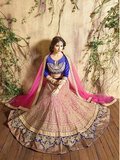 Embroided Net Lehnga With Stone Work And Net Dupatta