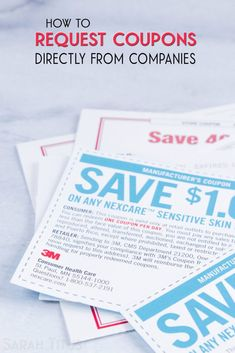 How to Request Coupons Directly From Companies It's easy to get coupons from manufacturers; Here's how to request coupons directly from companies. How To Start Couponing, Couponing For Beginners, Couponing 101, Extreme Couponing, Best Money Saving Tips, Ways To Save Money, Money Tips, Saving Money, Money Savers