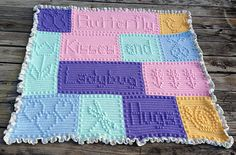 We don't have many girls in the family and are so fortunate to have a great-niece due to arrive soon. This blanket is dedicated to her.