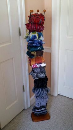 Old baseball cap or cd rack for my scarves!