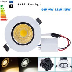New Dimmable Recessed Led Downlight Cob 6W 9W 12W 15W Dimmable LED Spot Light Led Ceiling Lamp Panel Light AC 110V 220V Spotlights Online with $14.5/Piece on Ok360's Store   DHgate.com