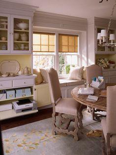 beautiful dining room / office combinationhgtv designer