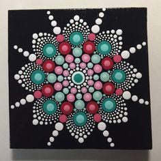 Hand Painted Mandala on Canvas, Mandala Meditation, Dot Art, #456 by MafaStones on Etsy