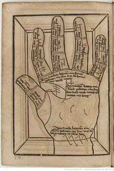 Titre :  Die Kunst Ciromantia  Auteur :  Hartlieb, Johann  Éditeur :  Jörg Schapf (Augsburg)  Date d'édition :  1490-1495  XYLO-41  Folio 291v