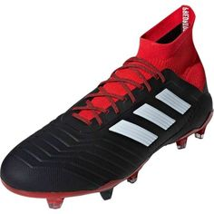 adidas Predator 18.1 FG - Black White Red 241536d309a52
