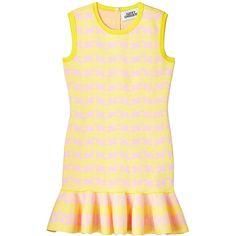 Chouette Stripe JQD Knit Dress ❤ liked on Polyvore featuring dresses, stripe knit dress, striped knit dress, beige knit dress, beige dress and striped dress