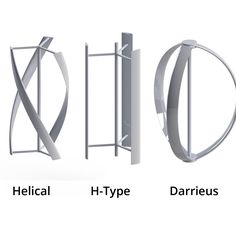 3 Types of Darrieus Vertical Axis Wind Turbine