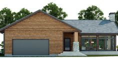 House Plan Modern House Plan to Modern Family. Small Cottage House Plans, Three Bedroom House Plan, Bungalow House Plans, New House Plans, Modern House Plans, Self Build Houses, Plans Architecture, Simple House Design, Craftsman Style Homes