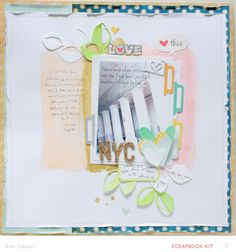 Nyc love by neroliskye at @studio_calico - watercolor background