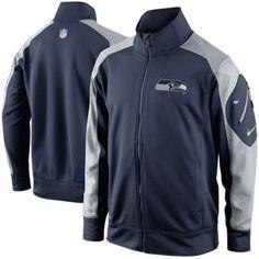 e68674764 Nike Seattle Seahawks Fly Speed Full Zip Performance Jacket - College Navy Super  Bowl Gear
