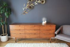 I found one just like this and purchased it for $29.99! It is a vintage Mid-Century Modern low 9-drawer dresser.