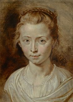 Peter Paul Rubens, Portrait of a Young Girl, possibly Clara Serena Rubens (circa 1620–1623). - Rubens Painting Authenticated as Real - artnet News