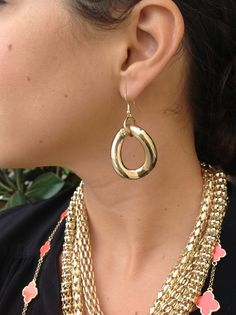 ONLY $12 Gold chain earrings