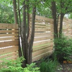 Privacy Fence Design ~ love the horizontal lines