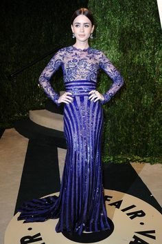 Lily Collins at the Vanity Fair #Oscars bash | See more afterparty photos here!