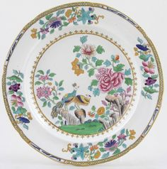 Spode Peacock color  c1840
