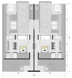 Sao Mai Resort Hotel Floor Plan, House Floor Plans, Resort Plan, Villa Plan, Architectural Floor Plans, Rm 1, Villas, Hotel Room Design, Apartment Plans